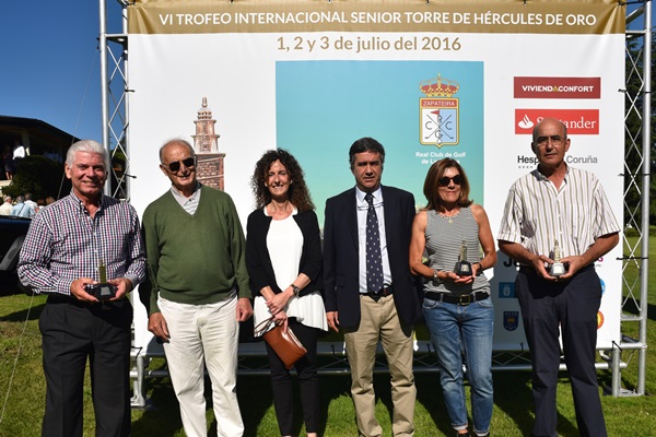 """Cuadro de ganadores del VII Trofeo de Golf Senior """"Torre de Hércules de Oro"""""""