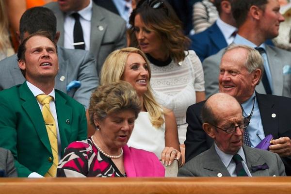 Danny Willett y Jack Nicklaus Wimbledon. Foto: @BritishTennis