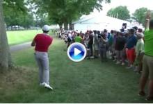 El Golf es duro: Así se pierde un título de la Copa del Mundo. Day se fue al agua en el hoyo 16 (VÍDEO)