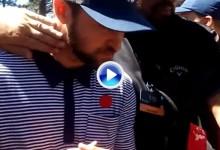 Un fan fue detenido en el American Century por propinar esta colleja a J. Timberlake (VÍDEO)