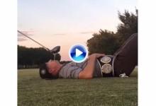 El bombardero Tim Burke puso a prueba a Matt Ginella con un tee y una bola en la boca (VÍDEO)