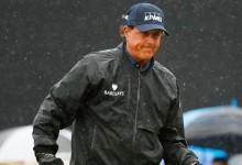 No rain? No party! La nula previsión de tormenta obliga a Mickelson a borrarse del US Open