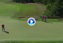 Purazo de Rahm desde más de 20 m. El español se apuntó el eagle para seguir soñando (VÍDEO)