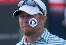El Golf es duro: Wheatcroft se quedó al borde de las lágrimas al mandar la bola al agua en el 18 (VÍDEO)