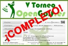 La 5ª edición del Torneo OpenGolf cuelga el cartel de completo a 48 horas de que eche a andar