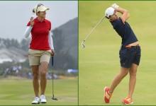 Azahara Muñoz y Carlota Ciganda dan el 'cante' con la uniformidad ¿olímpica? en Río (FOTOGALERÍA)