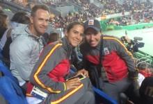 Azahara Muñoz y Carlota Ciganda ya están en Río. La competición femenina da comienzo el miércoles