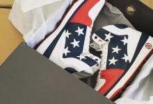 Bubba presentó los patrióticos zapatos que utilizará durante la competición en Río de Janeiro