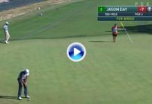 Day convirtió en oro uno de los putts más difíciles a los que se puede enfrentar un golfista (VÍDEO)