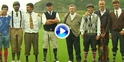 Torneo Hickory en Zarautz con vestimenta, palos, bolas de la época y… el regreso de Olázabal (VÍDEO)