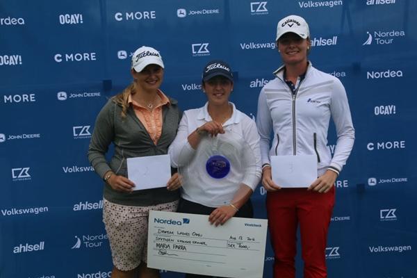 Maria Parra, ganadora en el Drobak Ladies Open