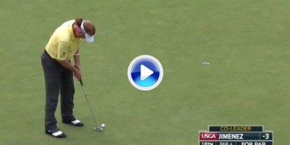 El Golf es duro: Este putt fallado por Jiménez le privó de la victoria en el US Open Senior (VÍDEO)