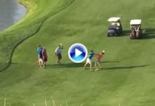 ¡¡Increíble!! dos jugadores llegan a las manos y se lían a puñetazos en un campo de golf (VÍDEO)