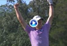 Este espectacular Hoyo en Uno de Peter Malnati fue el mejor golpe del día en el Wyndham (VÍDEO)