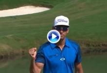 Rafa Cabrera-Bello también saca el puño en el PGA. Gran eagle del canario en el Wyndham (VÍDEO)