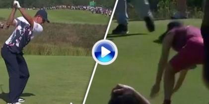 Una espectadora cogió la bola de Rose cuando éste falló la salida hacia la zona del público (Inc. VÍDEO)