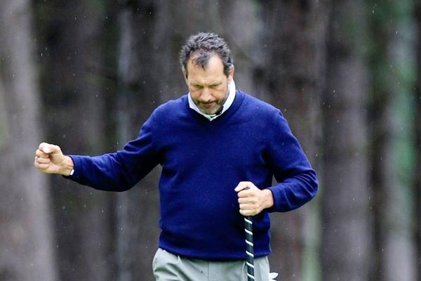 Santi Luna en el Scottish Senior Open. Foto: @EuroSeniorTour