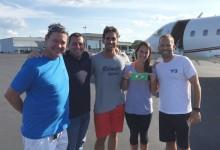Sergio García y Cabrera-Bello volaron a Río en el avión privado del castellonense