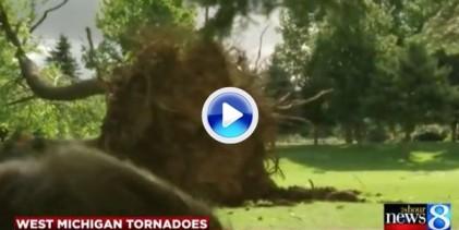 5 minutos fueron suficientes para que un tornado devastara un campo de golf en Michigan (VÍDEO)