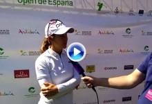 Azahara Muñoz prevé un Match Play frente a Beth Allen: «Va a ser un domingo muy divertido» (VÍDEO)
