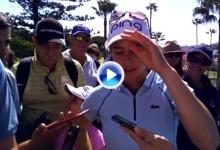 Una emocionada Aza agradece el apoyo de su gente en un día histórico para el golf español (VÍDEO)
