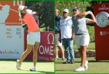 """Azahara lidera el Andalucía Costa del Sol Open de España: """"No pensé en la técnica, he jugado al golf"""""""