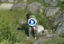 El Golf es muy duro… Chappell sufrió una chuleta, un hazard y una piedra en el mismo hoyo (VÍDEO)