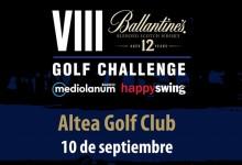 El Ballantines Golf Challenge hará parada en el Altea Golf Club. Será el próximo 10 de septiembre