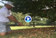 Lee Westwood homenajeó a Seve con el famoso e icónico golpe de rodillas del cántabro (VÍDEO)