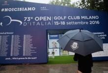 La lluvia destroza cualquier previsión en el Open de Italia y asegura un fin de semana frenético