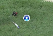 Sergio García vuelve a las andadas. Furioso, rompió el putt tras fallar el golpe en el green del 12 (VÍDEO)