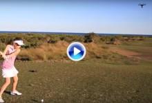 ¡Tiro al blanco! Una niña de 8 años derriba un dron en el acto con un golpe preciso y muy duro (VÍDEO)