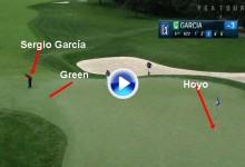 Sergio García pateó desde fuera de green para anotar este gran eagle. Fowler lo felicitó (VÍDEO)