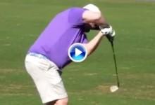 Quizás sea este el swing más extraño que hayan visto nunca. Pero tremendamente efectivo (VÍDEO)