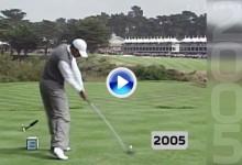 Dicen que 20 años no son nada. Vea la evolución del swing de Tiger Woods año a año desde 1996 (VÍDEO)