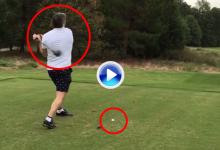 La estrella de la NHL, Alex Ovechkin podría superar a Barkley como peor jugador de golf (VÍDEO)