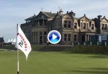 Una apuesta lleva al Old Course a poner la bandera de Pinehurst en uno de sus hoyos (Inc. VÍDEO)
