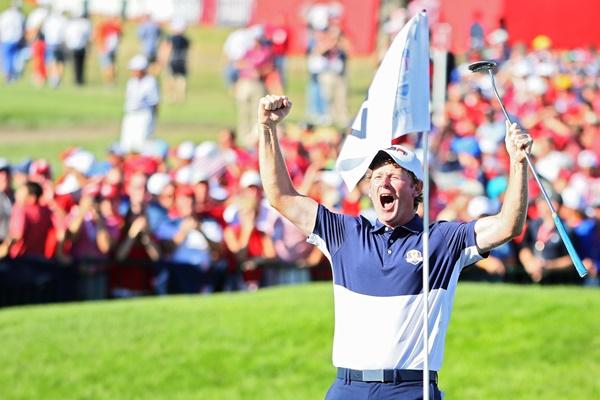 El golfista de Tennessee fue un secundario de lujo en la Ryder al ganar sus tres partidos. Foto: @PGATour