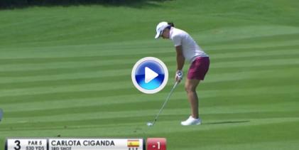"""Carlota Ciganda se mantiene """"On fire"""" en China gracias a putts y golpazos como estos (VÍDEO)"""
