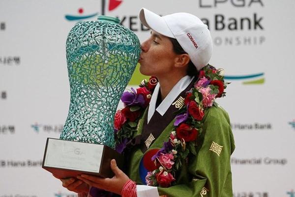 Carlota Ciganda probó las mieles del triunfo por primera vez en el LPGA en octubre. Foto: @GolfEspana