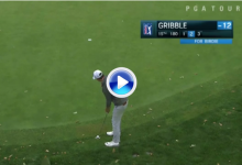 Golf en estado puro. El novato Gribble, autor del peor y del mejor putt, uno detrás del otro (VÍDEO)