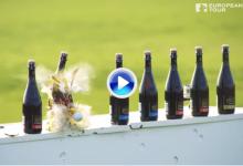 ¿Qué sucede cuando una estrella de la Ryder envía sus misiles contra botellas de cerveza? (VÍDEO)