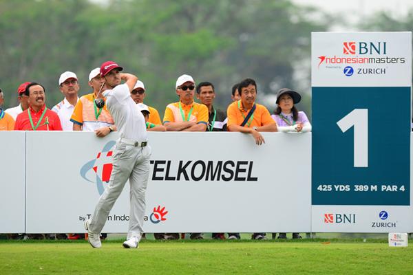 Javi Colomo en el tee del 1 en el Indonesia Masters. Foto: Asian Tour