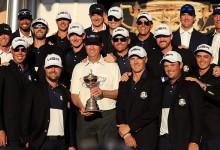 La Ryder Cup se queda en casa. EE.UU. ha tenido que esperar ocho años para ver esta imagen