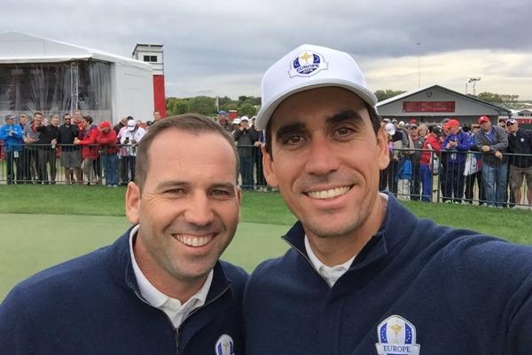 Sergio García y Rafa Cabrera-Bello en la pasada Ryder Cup