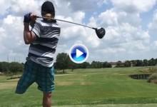 Vea el espectacular golpe, a cámara lenta, de este jugador discapacitado con una sola pierna (VÍDEO)