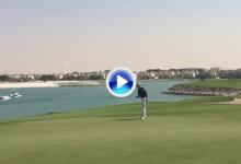 Pep Anglés: 64 golpes en el Al Hamra GC y directo al Top 5. Así se bate el record de un campo (VÍDEO)