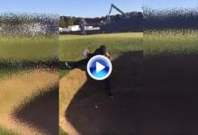 Wattel, ¿el golfista gimnasta? Así sacó la bola del bunker del hoyo 17 del Old Course (VÍDEO)