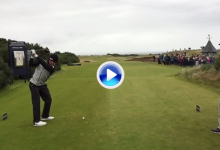 Rafa Cabrera-Bello en los links de Kingsbarns. El swing del canario a cámara super lenta (VÍDEO)