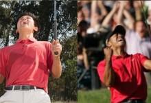 La Universidad de Stanford recrea las más famosas celebraciones de Tiger para aplaudir su vuelta